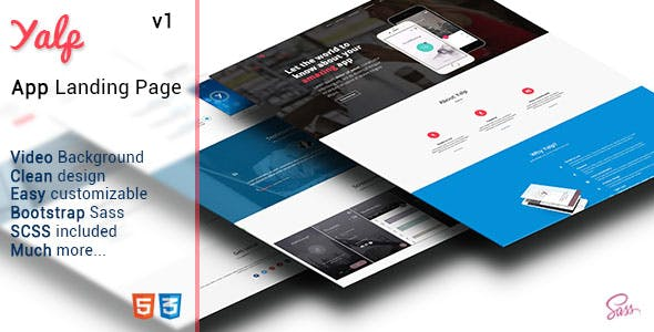 Yalp - App Landing Page