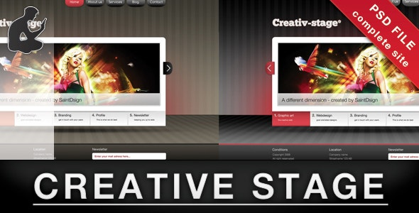 Creative stage - PSD - Creative PSD Templates