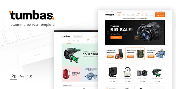 Tumbas - eCommerce PSD Template - Retail Photoshop