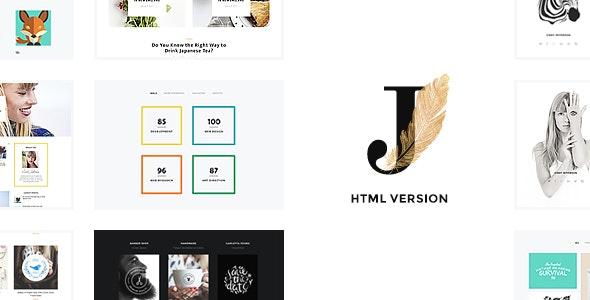 Cindy J   Creative Portfolio / Blog / CV HTML Theme - Portfolio Creative