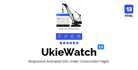 UkieWatch - Responsive Animated Templates - Under Construction Specialty Pages