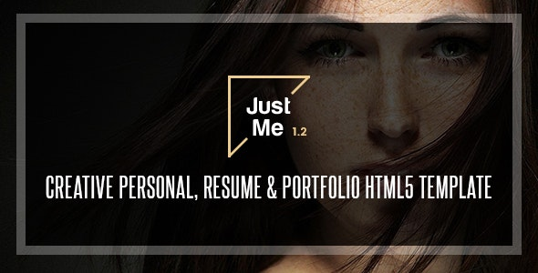 Just Me | Creative Personal Resume, vCard & Portfolio HTML5 Template - Creative Site Templates