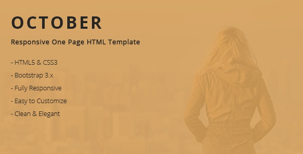 October - Responsive One Page HTML Template - Creative Site Templates