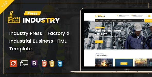 Industry Press - Factory & Industrial Business HTML Template - Business Corporate