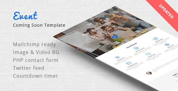 Event - Coming Soon Responsive Template - Under Construction Specialty Pages