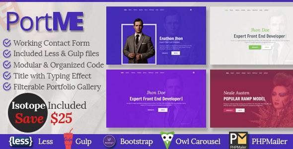 CV, Resume, vCard & Portfolio Template   PortMe - Resume / CV Specialty Pages