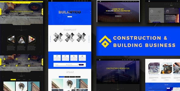 Construction & Building Business Theme - Corporate Muse Templates