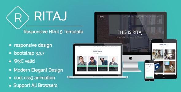 RITAJ : Multi-purpose & Responsive Html 5 Template - Creative Site Templates