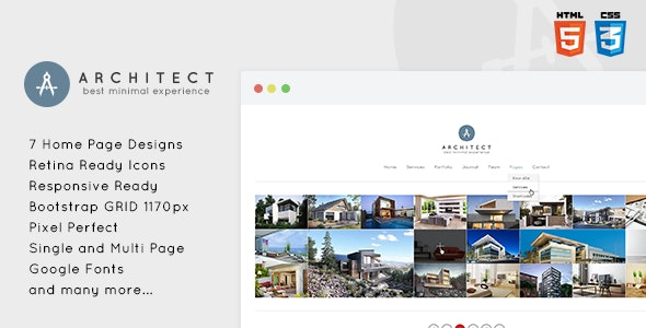 Architect - Creative & Minimal HTML5 Template - Creative Site Templates