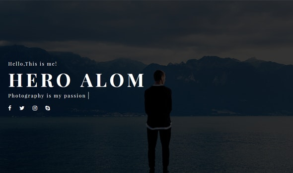 Ethan - Personal Resume Template - Personal Site Templates