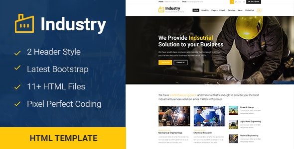 Industry - Factory & Industrial Business Template - Business Corporate