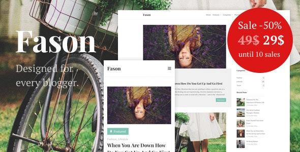 Fason - Fashion and Lifestyle Personal Blog - Personal Blog / Magazine
