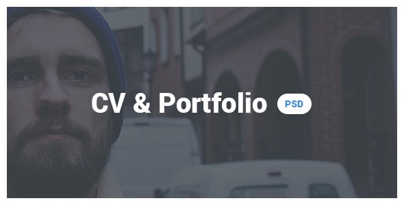 CV & Portfolio / Resume PSD template - PSD Templates