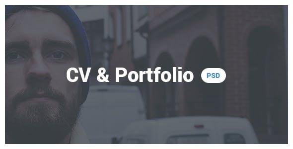 CV & Portfolio / Resume PSD template