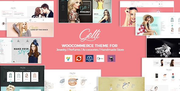 Gelli - WooCommerce Theme for Jewelry / Perfume / Accessories / Handmade Store - WooCommerce eCommerce