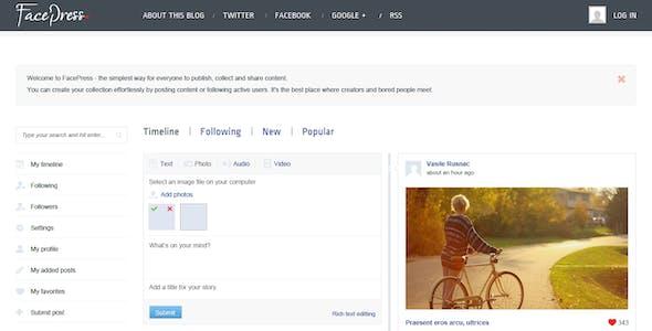 FacePress - Community Content Sharing