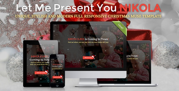 NIKOLA - Christmas Full Responsive Muse Template - Creative Muse Templates