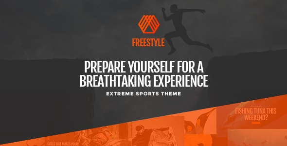 Freestyle - A WordPress Theme For Extreme Sports - Entertainment WordPress