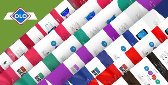 OlO - App Landing PSD Template - Technology Photoshop