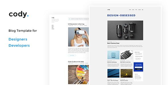 Cody - Blog PSD Template - Personal PSD Templates