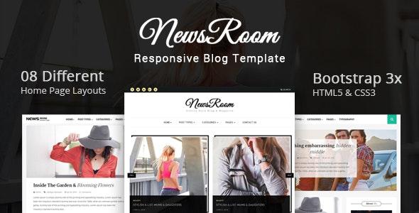 Newsroom - Responsive Blog Template - Miscellaneous Site Templates