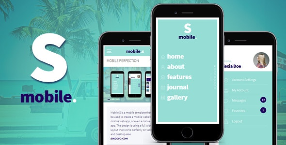 MobileS Responsive HTML Mobile Template - Mobile Site Templates