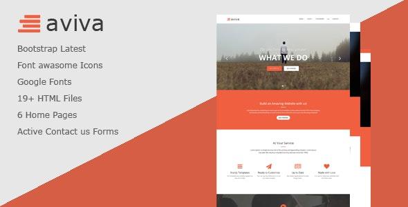 Aviva - Multipurpose HTML Template - Corporate Site Templates