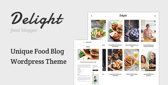 Delight - Food Blog WordPress Theme - News / Editorial Blog / Magazine