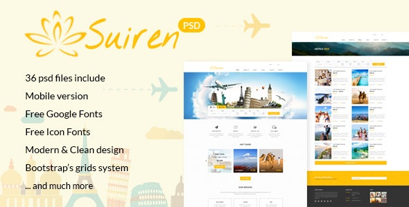 SUIREN Travel Tour and Booking Agency HTML Template - Travel Retail
