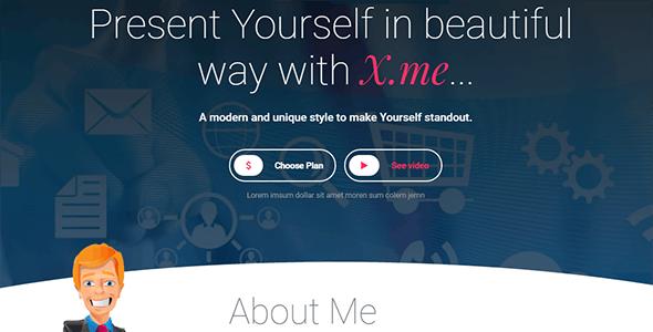 XdotMe - Personal Portfolio Template