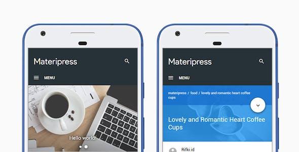 Materipress - Material Design WordPress Theme