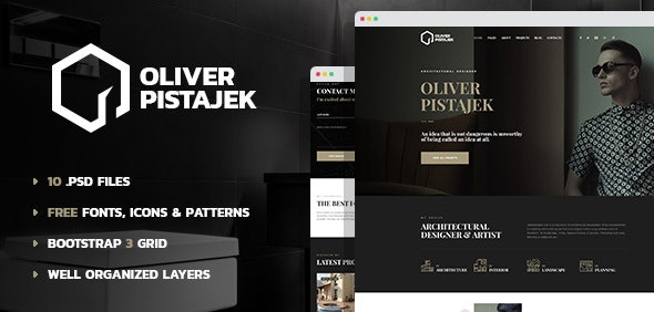 Architecture - Engineering and Design PSD Template - Creative Photoshop