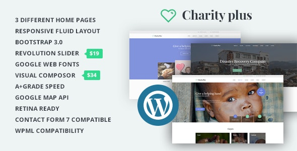 CharityPlus - WordPress Multipurpose Theme For Non-Profit Organizations - Charity Nonprofit