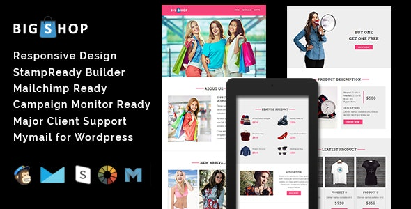 BIGSHOP - Responsive Email Template - Email Templates Marketing