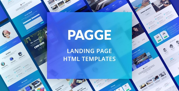 Pagge - Landing Page HTML Templates - Landing Pages Marketing