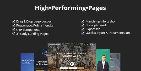 High Performing Pages - Landing Page Kit with Page Builder - Marketing Corporate