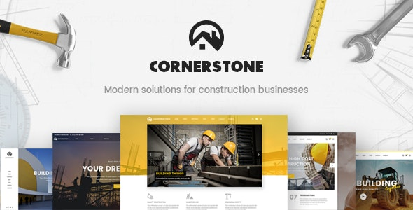 Cornerstone - Contractor & Builder Theme - Business Corporate