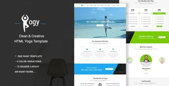 Yogy - Bootstrap Based Responsive Onepage Template - Health & Beauty Retail