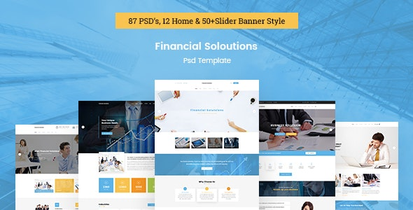 Financial Solutions - Business PSD Template - Business Corporate