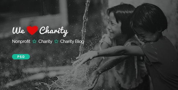 WeCharity - Charity/Nonprofit PSD Template - Charity Nonprofit