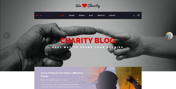 WeCharity - Charity/Nonprofit PSD Template