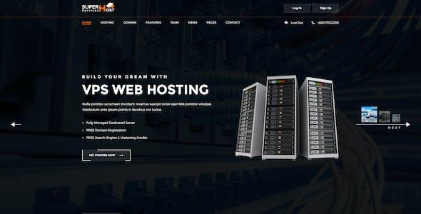 Super Host - Premium Web Hosting PSD Template