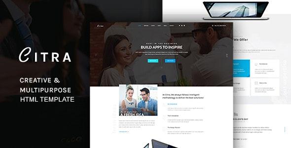 CITRA - HTML Responsive Multi-Purpose Template - Corporate Site Templates