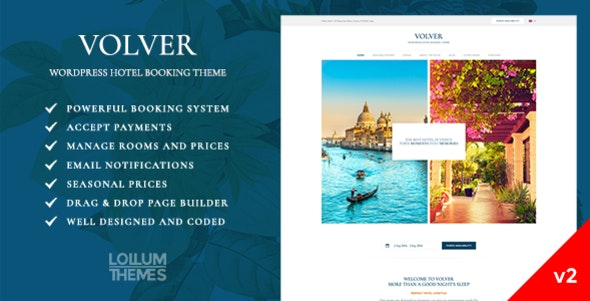 Volver Hotel - WordPress Booking Theme - Travel Retail