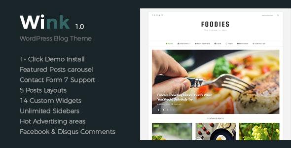 Wink - Modern & Elegant & Clean WordPress Theme - Personal Blog / Magazine
