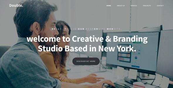 Double - Responsive Onepage HTML Template - Portfolio Creative