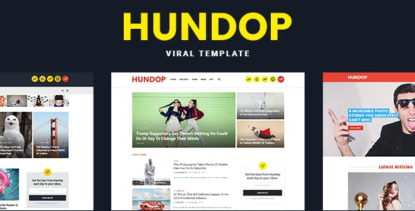 Buzzfeed HTML Website Templates from ThemeForest