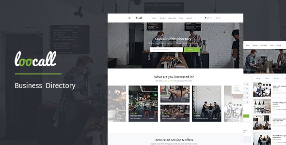 Loocall - Modern Business Directory - Entertainment Site Templates