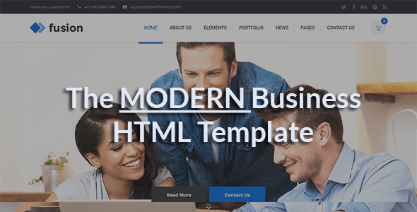 Fusion - A Modern Business HTML Template - Business Corporate