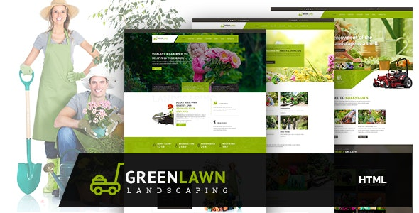 GREENLAWN - Gardening and Landscaping HTML Template - Business Corporate